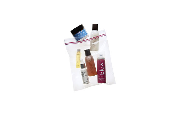Travel size cosmetics