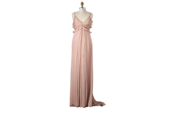 floor-length chiffon gown