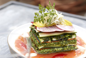 """Raw Zucchini and Carrot Lasagna with Almond """"Ricotta"""""""