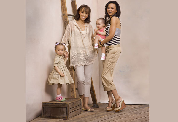 Sandi Bass and Christina Copeland in O magazine in summer 2010 khakis