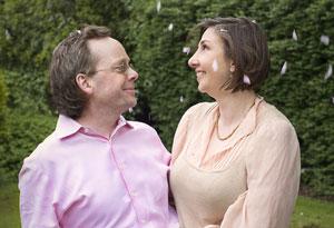 Carla Power and her husband Antony
