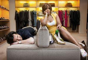 Gayle King and Adam Glassman at Prada