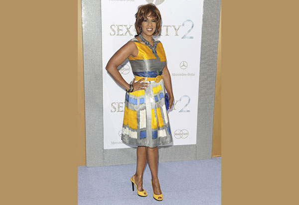 Gayle King at the Sex and the City premiere