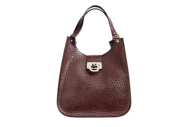 structured leather handbag