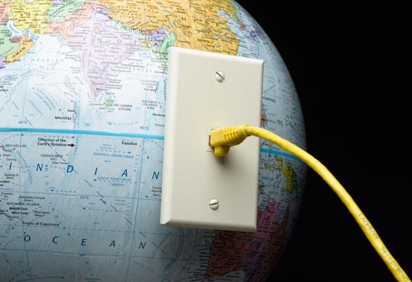 Globe with plugin cord