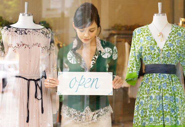 "Store window ""open"" sign"