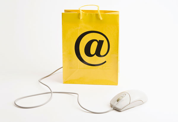 Shopping bag with mouse