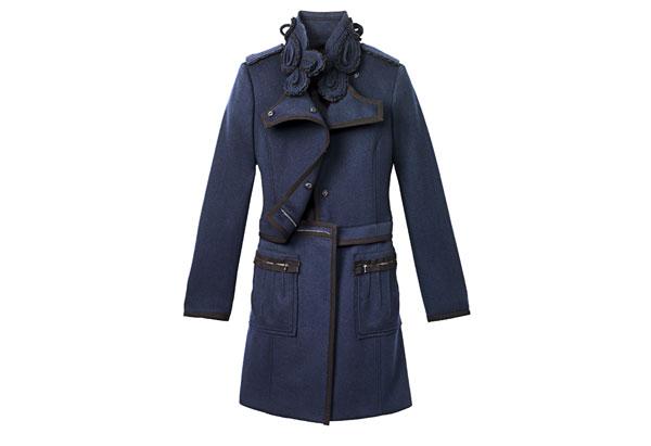 military navy black coat