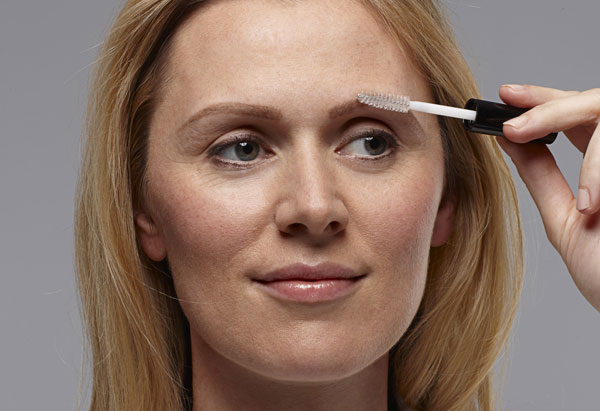 How to fill in brows - brush on a clear gel