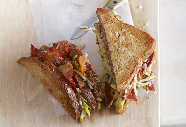 Almond Butter and Bacon Sandwich