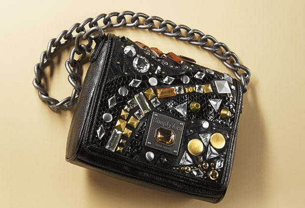 Studded shoulder purse