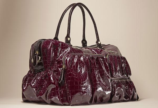 Mock-croc handbag