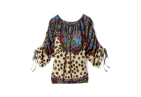 Bohemian print blouse