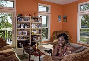 Melba Leggett-Barnes in a Make It Right home