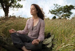 Catherine Price meditating