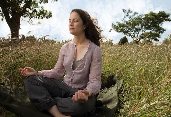 Catherine Price Meditating