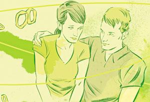 Illustration of marital problems