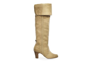 Daniblack over the knee leather boot