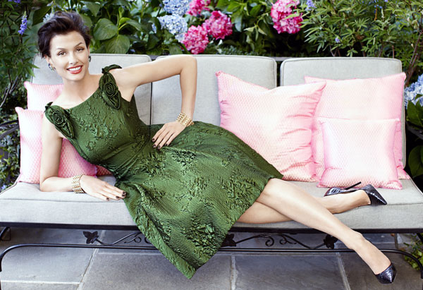 Bridget Moynahan - green dress