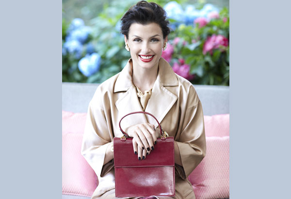 Bridget Moynahan - wrap coat