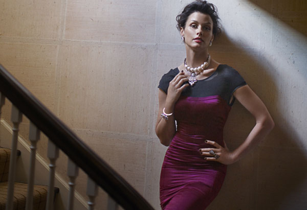 Bridget Moynahan - plum sheath