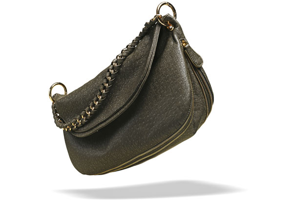 faux-ostrich purse