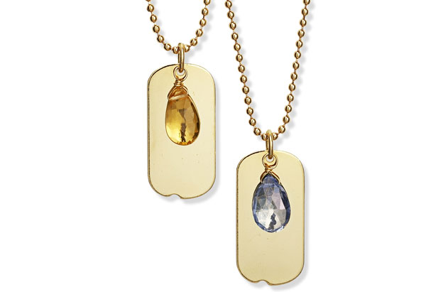 gold-plated dog tags
