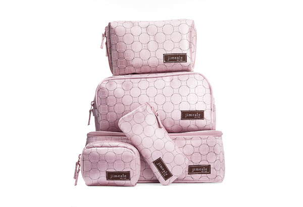 Jimeale New York pink cosmetic bags