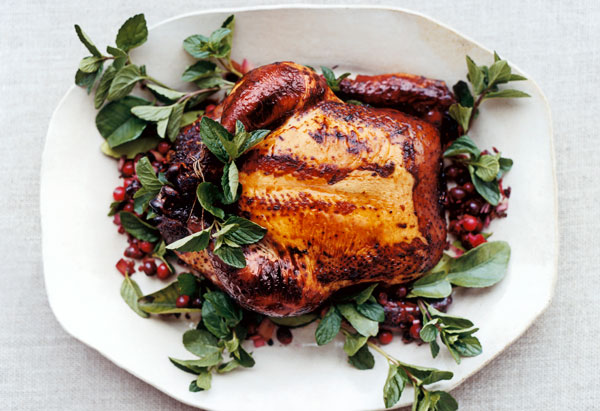 Cranberry and Lime-Leaf Drunken Chicken recipe