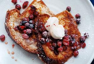 Cranberry French Toast with Mascarpone
