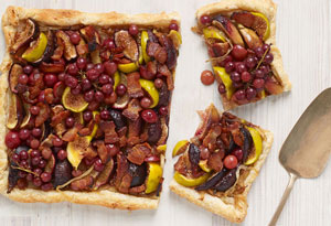 Fig, Grape, and Applewood Bacon Tart