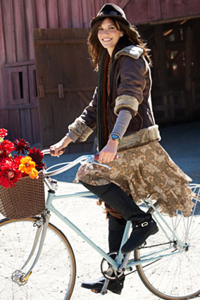 mandy moore on bicycle