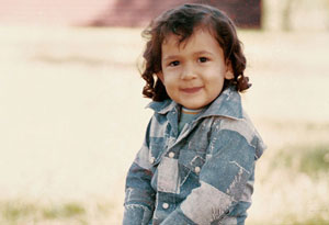 Victoria Olmo at age 3