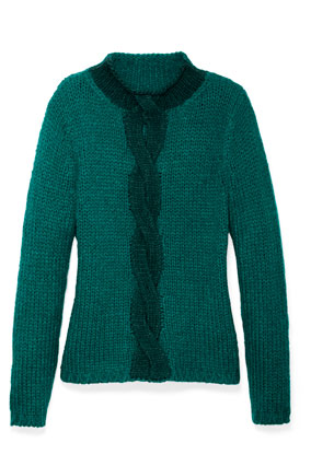 dark teal mohair-blend sweater