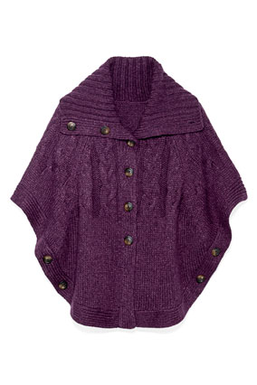 purple cape sweater