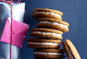 Gingerbread and Lemon Sandwich Cookies