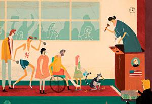 Chairman Illustration by Jack Hudson