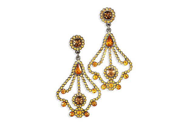 chandelier-style earrings