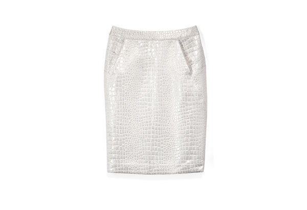 croc pencil skirt