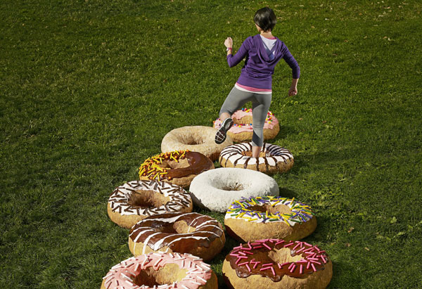 Donut obstacle course