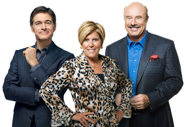 Suze Orman, Dr. Phillip C. McGraw, and Dr. Mehmet Oz