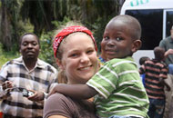 Bryn Prater and young boy from Tanzania