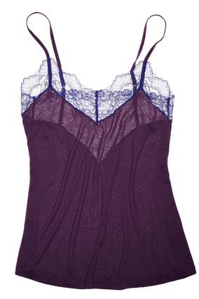 dark purple camisole