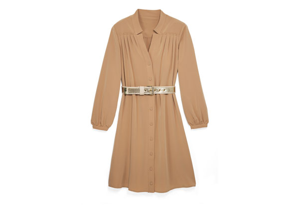 shirtdress and belt