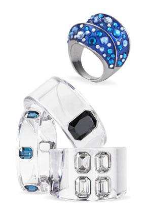 Swarovski ring and cuffs.