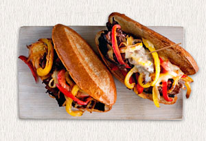 Cheesesteaks with Peppers and Onions