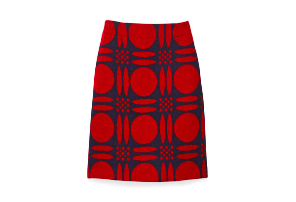skirt with graphic pattern