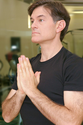 Dr. Oz's morning yoga routine