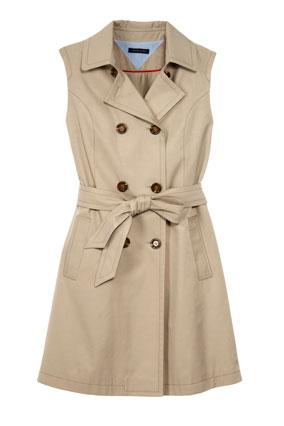 sleeveless trenchcoat