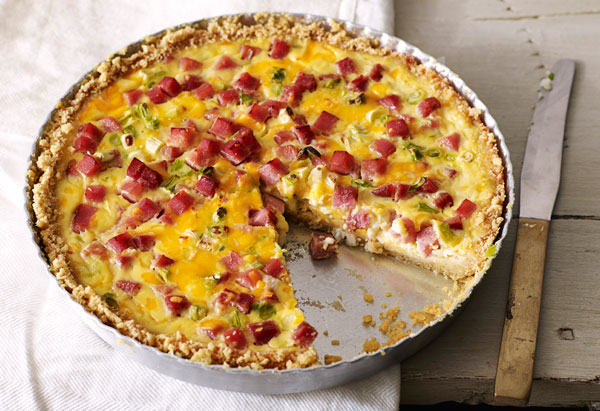Double Cheese and Ham Quiche